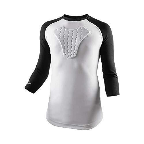 McDavid Youth HEX Sternum Raglan 3/4 Sleeve Shirt (Medium, Black)