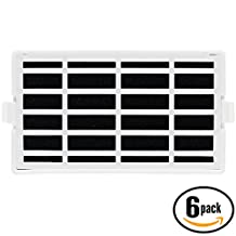 6-Pack Replacement W10311524 Refrigerator Air Filter for Whirlpool, KitchenAid, Maytag - Compatible with Whirlpool WSF26C3EXF01, KitchenAid KSC24C8EYY02, Whirlpool WSF26C2EXY02, Whirlpool W10311524