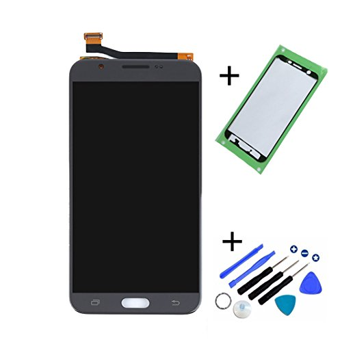 Eaglestar J727 Full LCD Assembly With Touch Screen Digitizer and LCD Pre-installed Replacement With Pre-cut Frame For Samsung Galaxy J7 2017 SM-J727T J727P J727A J7 Prime 2017+Tools-Grey