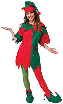 Rubie's Adult Elf 4-Piece Set, Red/Green, One Size