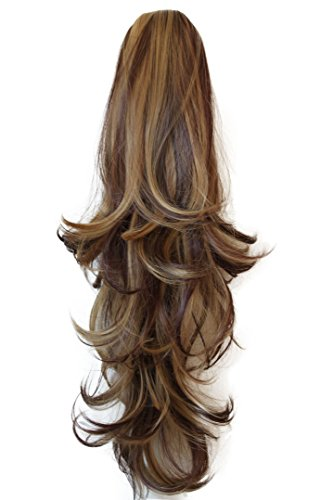 PRETTYSHOP 22'' & 140g Hair Piece Pony Tail Extension Long & Voluminous Curled Wavy Heat-Resisting Div. Colours (brown mix #33H27 H57) by Prettyshop Hairpiece-Ponytail