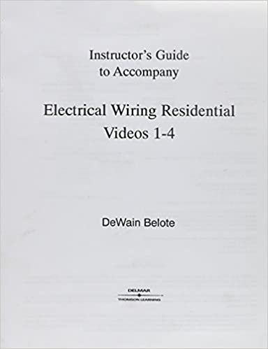 Super Electical Wiring Residential Video Set 1 With Vhs Tapes Delmar Wiring 101 Capemaxxcnl