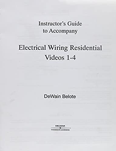 electical wiring residential video set 1 with vhs tapes delmar rh amazon com