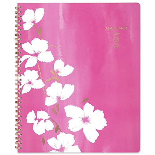 Pink Ribbon Daily Planner - AT-A-GLANCE 2019 Weekly & Monthly Planner, 8-1/2