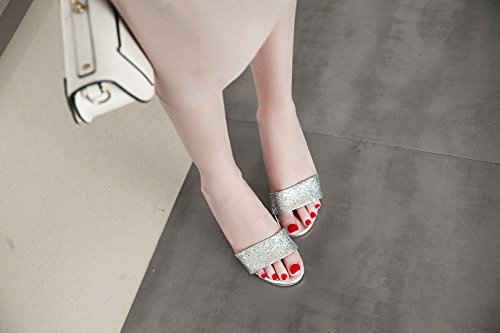 e Primavera Dimensione Party Womens's Estate per C Shoes 42 Colore a Paillettes Moda Red New Tacchi Slipper Serate Silver Gold Spillo HH7Bwx