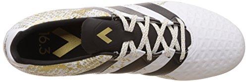 adidas Ace 16.3 In, Botas de Fútbol para Hombre Blanco (Ftwbla / Negbas / Dormet)