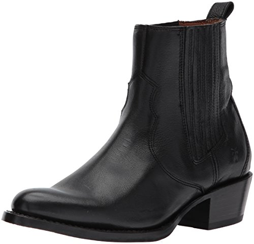 FRYE Women's Diana Chelsea Boot, Black Pebbled Buffalo, 8 M US