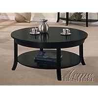Round Coffee Table in Black Espresso Finish