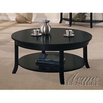 Amazon Com H M Shop Round Coffee Table In Black Espresso