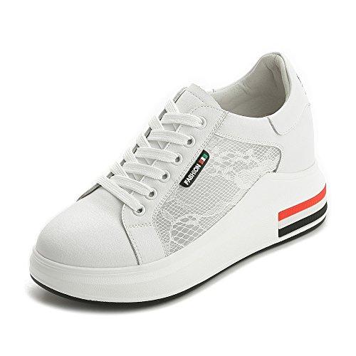 De Cuero 38 Zapatos Con Casuales Cmodos Sbl Femenino Blanca Verano Red c67 Aumentados Mujeres Para wgxT5qF