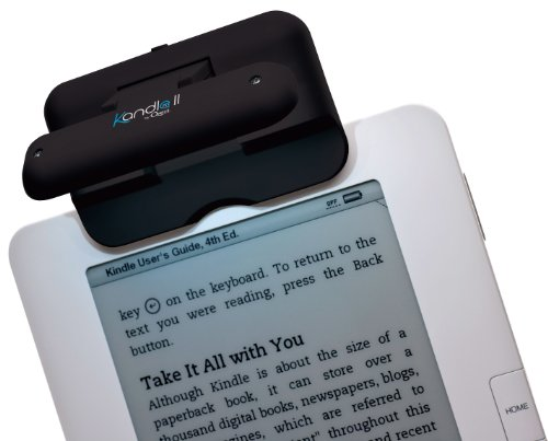 Ozeri Kandle LED Reading Light Designed for Books and eReaders, Black