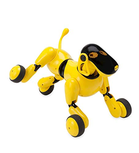 HearthSong Gizmo The Voice Controlled Robotic Dog - Electronic Pet Toy for Kids - 13 L x 5 W x 7'' H, Yellow by HearthSong (Image #3)