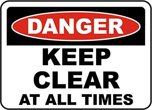 Vinly Safety Sign Decal Wear Proper Safety Equipment Danger Notice Warning Sign Safe Sticker for Indoor & Outdoor Use Waterproof 9