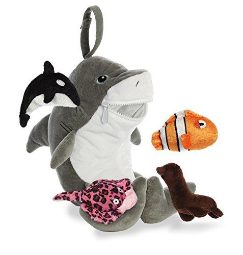 Rattle Newborn Ty (Aurora World Baby Talk Playset Plush Animal, Gray)