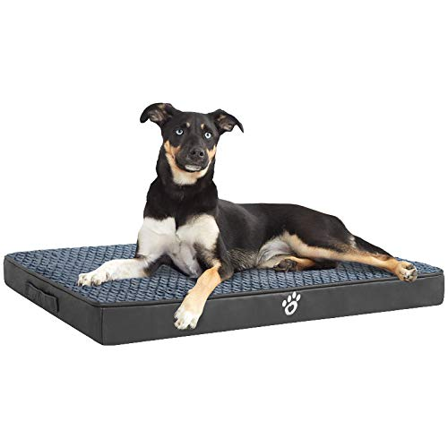 MFOX Orthopedic Dog Bed, Dog Beds Large Washable with Removable Zipper Covers, Large Dog Bed for Small/Medium/Large Dogs…