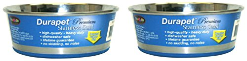 (2 Pack) Durapet Stainless Steel Dog Bowls - 1.25 Quart by Durapet