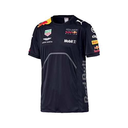 Red Bull Racing F1 Mens Team T-Shirt 2018 M Blue - Team Red Bull Racing