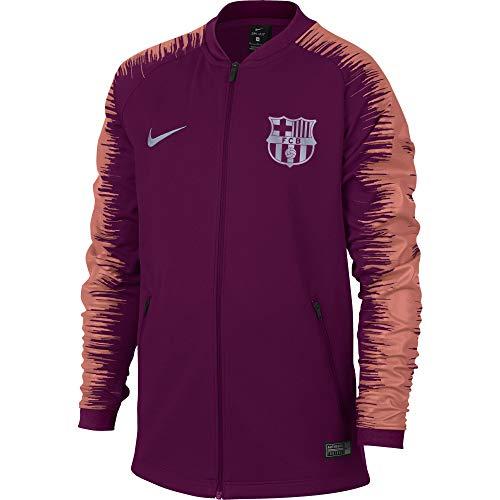 NIKE 2018-2019 Barcelona Anthem Jacket (Deep Maroon) - Kids (Fc Barcelona Kids Long Sleeve)