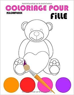 Amazon Magnifique Coloriage Pour Fille Livre De Coloriage Pour Les Filles 3 A 8 Ans Coloriages Varies Princesse Cheval Licorne Gateau Bebe Mandala Sirene