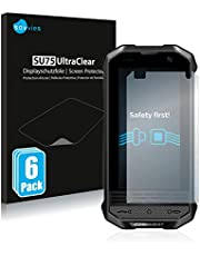 6X Savvies Ultra-Clear Screen Protector for Conquest F2 Mini, accurately Fitting - Simple Assembly - Residue-Free Removal