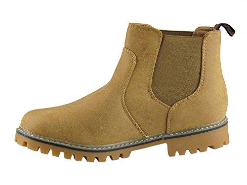 Winterschuhe - Boots - mit Gummizug - grobes Profil - camel