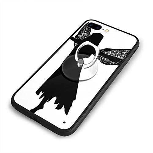 RONG FA Fairy Silhouette Clip Art Apple Cell Phone Case for 8 Plus Ultra Thin Hard Cover Protect Apple iPhone 8 Plus with Smartphone Kickstand -