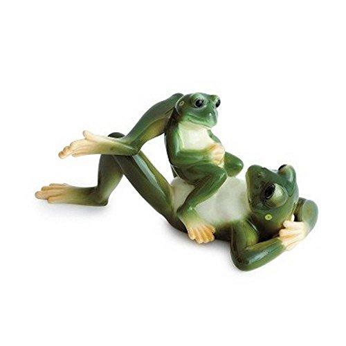 Franz Porcelain Amphibia frog father & son figurine Franz Fine Porcelain