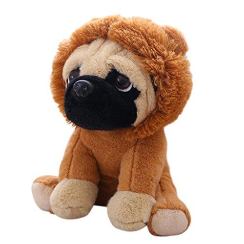 AMOFINY 24CM Puppy Cartoon Plush Cute Dress Up