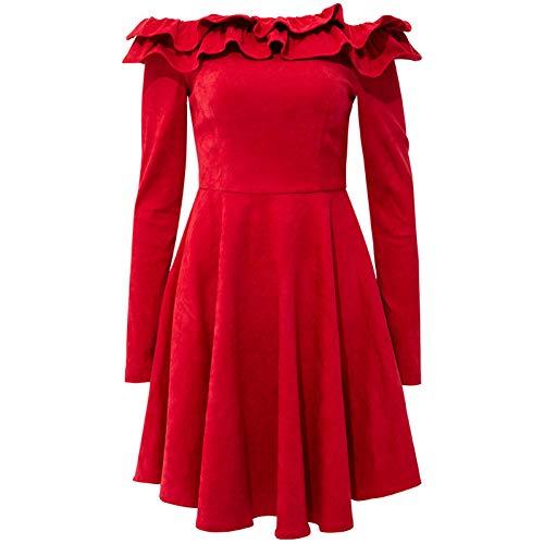 Longues Haute Taille Jupe Une À Robe Nouvelle 2019 Printemps Bingqz Femme Épaule L Manches nqCw6v0xzH