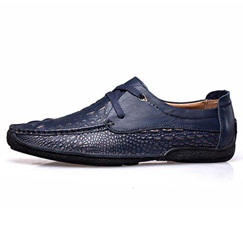 Casuales de Encaje de Blue Zapatos Zapatos Zapatos Hombre al Libre Trabajo Zapatos Aire de Zapatos xqgXHtz