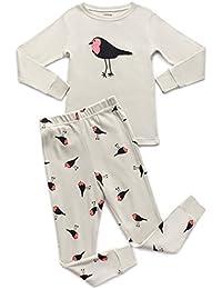 Girls Horse Bird 2 Piece Pajama Set Top & Pants 100% Cotton PJ's (Toddler-14 Years)