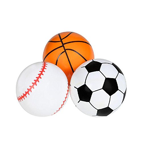 3'' Inflated Vinyl Sports Ball Mix (36Pc/Un) by Bargain World