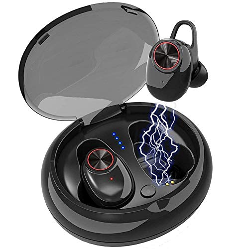 Wireless Earbuds, Bluetooth Earbuds 5.0 Headphones Deep Bass Hi-Fi Stereo Sound with Magnetic Charging Case and Stereo Calls , Secure Fit, Sweatproof for Gym