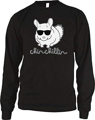 Amdesco Men's Chinchillin Chinchilla with Sunglasses Thermal Shirt