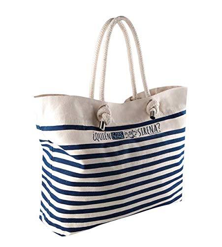 Missborderlike Bolsa de playa Bolsa de playa sirena azul