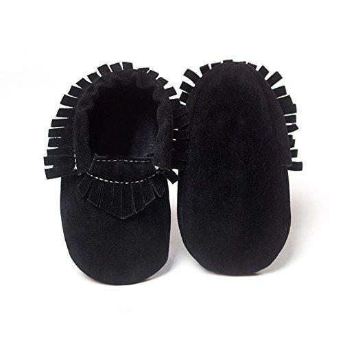 ESHOO bebé borla zapatos suela suave Candy Color Prewalker zapatos de cuna 0–18M C Talla:6-12 meses M