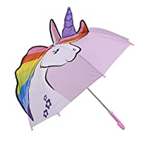 Kidorable Unicorn Pop up Umbrella for Kid with Safety Open and Close by Micaddy | Age 3-7
