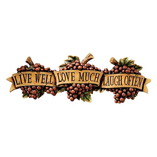 - Design Toscano Live-Love-Laugh Wall Sculpture