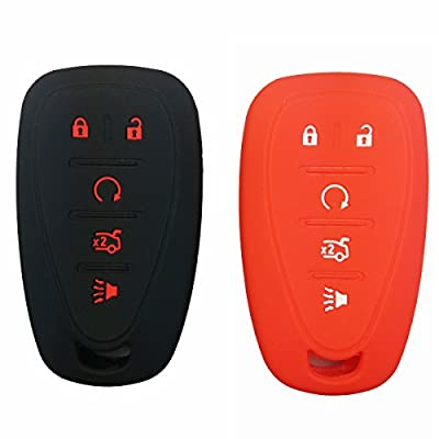 2Pcs Coolbestda Silicone 5buttons Smart Key Fob Cover Case Protector Remote Control Keyless Jacket for Chevrolet 2020 2020 2020 Chevy Malibu Camaro Equinox Trax Traverse Sonic Cruze Volt Spark: Kitchen & Dining