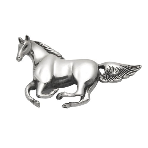 Wild Things Sterling Silver Running Horse Pin