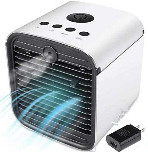 Portable Cooling Air Conditioner Small Desktop 3 Speed LED Lights USB Cooler Fan