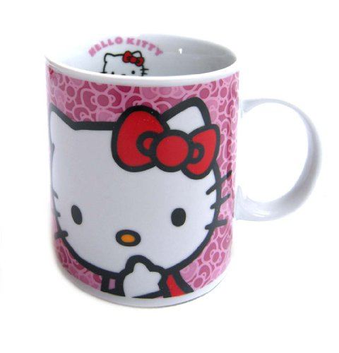 Hello Kitty – Taza regular de porcelana, color rosa (United Labels 811290)