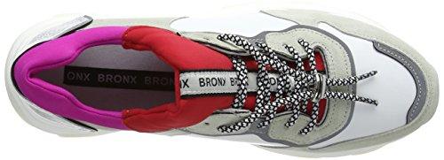 Kvinners hvit Fuchsia 2298 Rød Bronx Trenere Silber Baisley Gelb Hvit Weiß 4Zwq6Fd