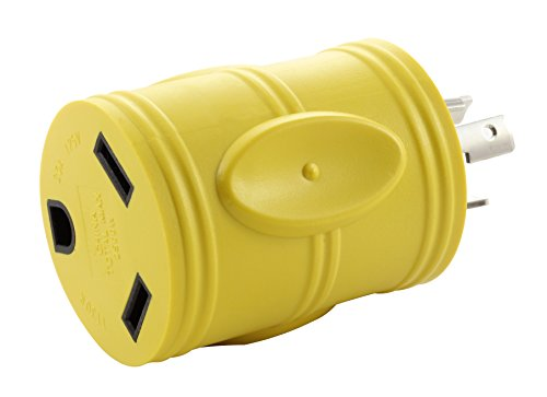AC WORKS Generator to 30Amp RV Adapter (L5-20 20A 3-Prong Locking Compact)