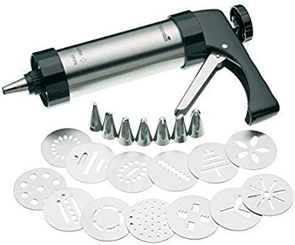 Wolfgang Puck 15-Piece Cookie Press Set with Decorating Tips