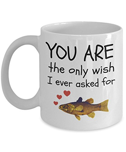 Gold Cup Fly Reel (Fishing Wife Mug Valentine's Day Fisherman Funny Gifts Coffee Cup Lovers Gold Fish Love the Only Wish I Ever Asked)