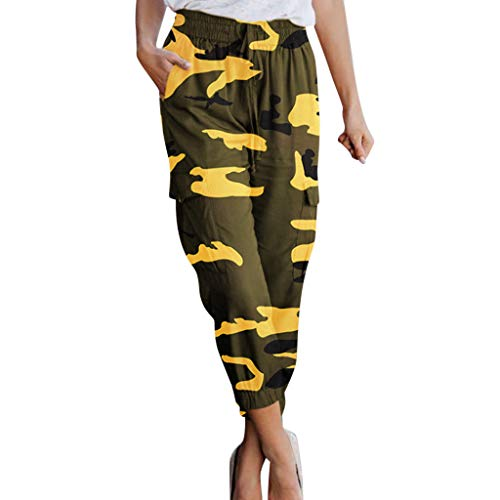 - Creazrise Womens High Rise Slim Fit Color Jogger Pants Camouflage Print Drawstring Foot Pants