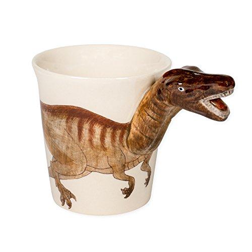 Tyrannosaurus Rex Dinosaur 8 oz. Ceramic Stoneware hand Painted Coffee Mug (Hand Painted Stoneware Mugs)