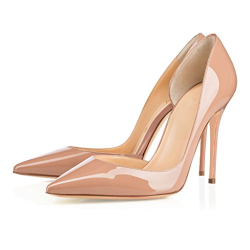 pointu pour EDEFS de Chaussures bout dames Chaussures Escarpins soirée Beige à découpés à d'Orsay glissière femme pour q66tw