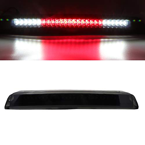Rear Roof Center LED Third 3rd Brake Cargo Light Assembly, High Mount Stop Tail Light Replacement for 2004-2015 Nissan Titan, 2005-2016 Nissan Frontier (Black Housing Smoke Lens)